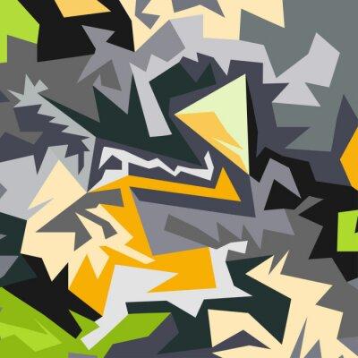 Fototapeta Abstrakt vzoru mnohoúhelníků vektorové ilustrace