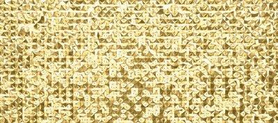 Fototapeta abstrakte 3d polygon kunst im muster oder raster design, in verschiedenen farben erhältlich, scharf und hochauflösend