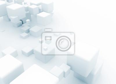 Fototapeta Abstraktní 3d bílé kostky