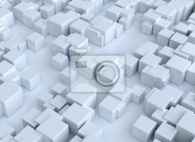 Fototapeta Abstraktní 3d kostky pozadí