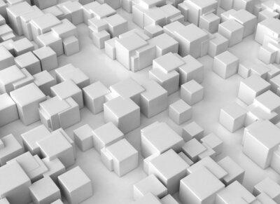 Fototapeta Abstraktní 3d kostky zázemí velké rozlišení