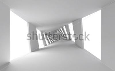 Fototapeta Abstraktní 3d pozadí s bílým zkroucené spirálové chodby