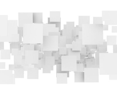 Abstraktní 3d sqaures