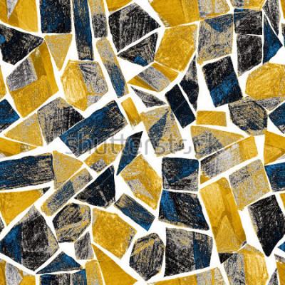 Fototapeta Abstraktní akvarel bezešvé vzor. Umělecká díla v geometrickém moderním stylu. Moderní. Vitráž.