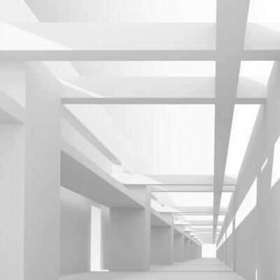 Fototapeta Abstraktní architektura 3d pozadí s perspektivním pohledu EMP