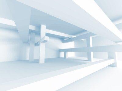 Fototapeta Abstraktní architektura Concept. Moderní budova Interior Design
