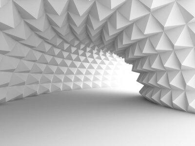 Fototapeta Abstraktní architektura tunel se světlem na pozadí