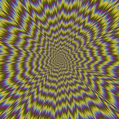 Fototapeta Abstraktní barevné ilustrace hypnotické jasného vzoru