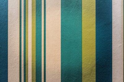 Fototapeta Abstraktní barevné vintage pozadí s pruhem vzorem na zeď