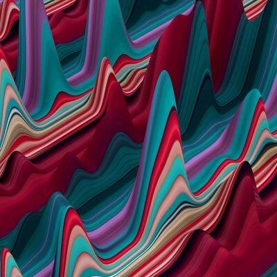 Fototapeta abstraktní barevné vlnovky, 3d pozadí