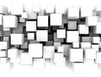 Abstraktní bílá 3d kostky