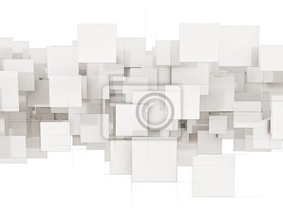 Abstraktní bílé čtvercové pozadí