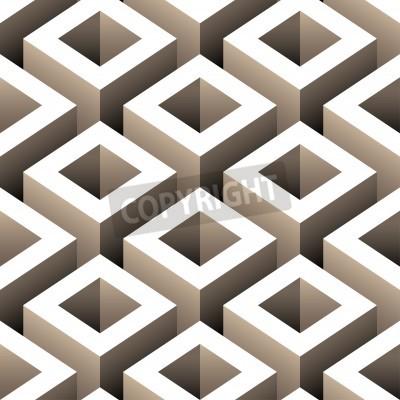 Fototapeta abstraktní boxy 3d bezproblémové vzor