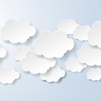 Fototapeta Abstraktní bubliny ve tvaru mraků používaných v sociální