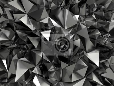 Fototapeta abstraktní černá vykrystalizovala pozadí