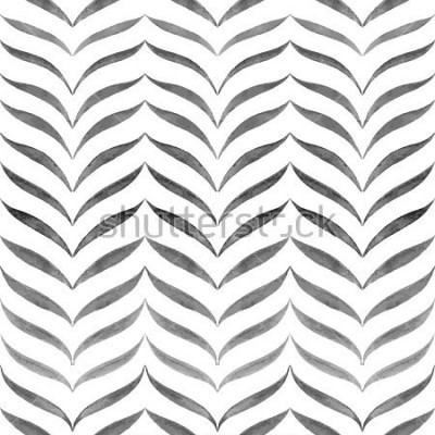 Fototapeta Abstraktní černé bílé pozadí. Vektor bezšvové kreslený vzor.