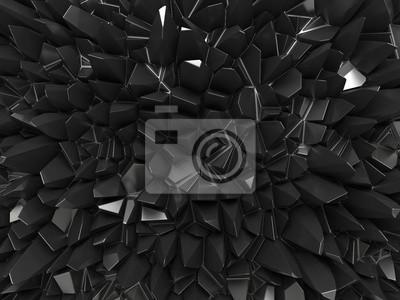 Fototapeta abstraktní černý povrch pozadí