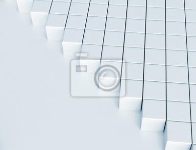Fototapeta Abstraktní digitální pozadí 3d bloky