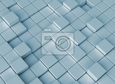 Abstraktní digitální pozadí 3d bloky