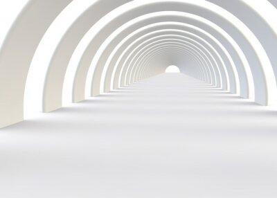 Fototapeta Abstraktní futuristické tunel v moderním stylu