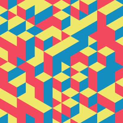 Fototapeta Abstraktní geometrické 3d barevné pozadí.