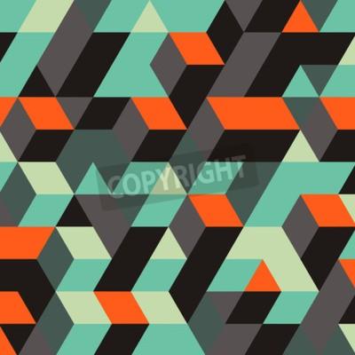 Fototapeta Abstraktní geometrické 3d pozadí. Může být použita pro tapety, webové stránky pozadí, webové bannery.