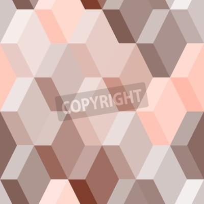 Fototapeta Abstraktní geometrické bezešvé vzor v růžové a hnědé, vektoru