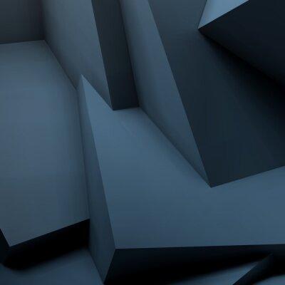 Fototapeta Abstraktní geometrické pozadí s překrývajícími se kostkami