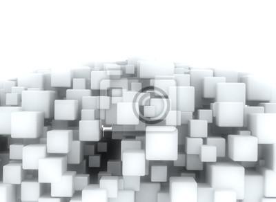 Fototapeta Abstraktní geometrické tvary 3d kostky