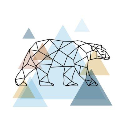 Fototapeta Abstraktní geometrický medvěd.