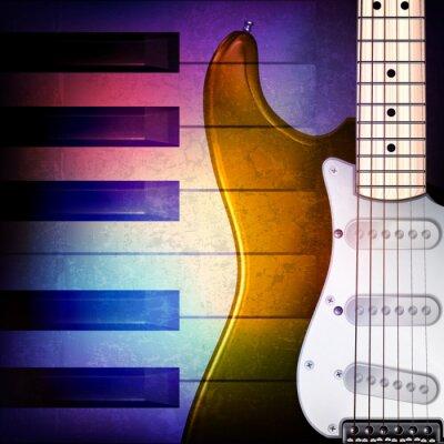 Fototapeta abstraktní grunge pozadí s klavírem