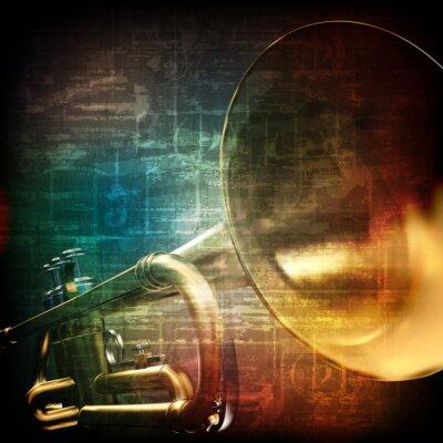 Fototapeta abstraktní grunge pozadí s trumpetu