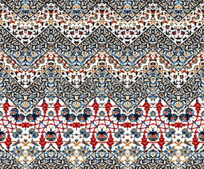 Fototapeta abstraktní iket cik cak vzor