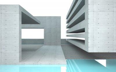 Fototapeta Abstraktní interiér s tyrkysovým sklem