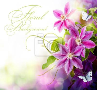 Abstraktní jarní květinové pozadí pro design
