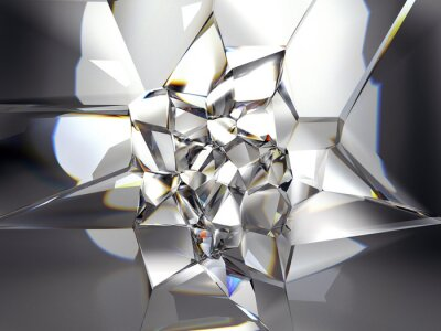 Fototapeta abstraktní jasný krystal pozadí