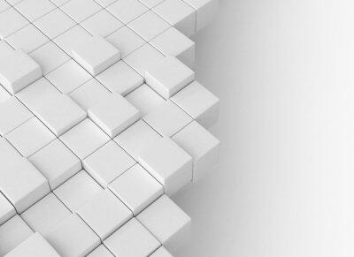 Abstraktní kostky stavební koncepce