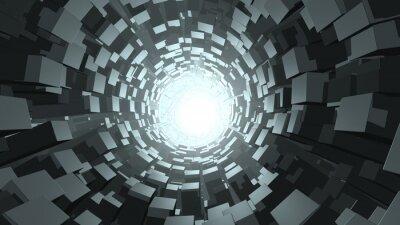 Fototapeta Abstraktní krychle červí díra