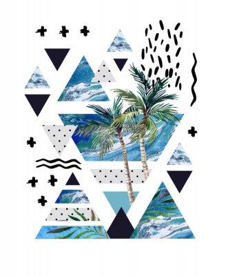 Fototapeta Abstraktní letní geometrické plakátové provedení.
