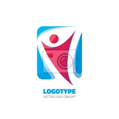Fototapeta Abstraktní lidská postava - vektorové logo koncepce ilustrace pro  sportovní klub 83c8567de2