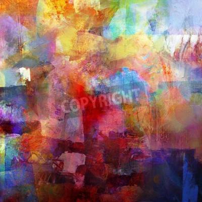 Fototapeta abstraktní malované pozadí - vytvořené kombinací různých vrstev barvy