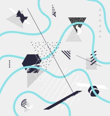 Fototapeta Abstraktní minimalistický geometrické kompozice