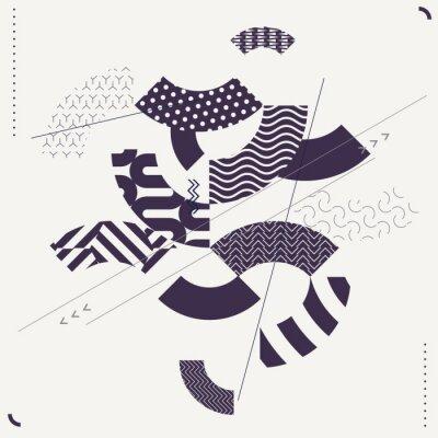 Fototapeta Abstraktní moderní geometrické pozadí