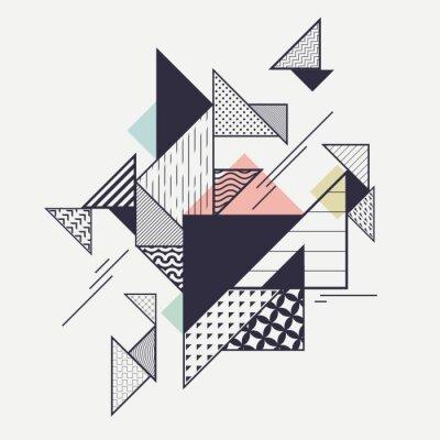 Fototapeta Abstraktní moderní geometrické složení