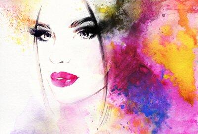 Fototapeta Abstraktní módní akvarel ilustrační