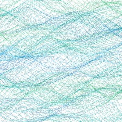 Fototapeta Abstraktní modré čáry na pozadí. Vektor
