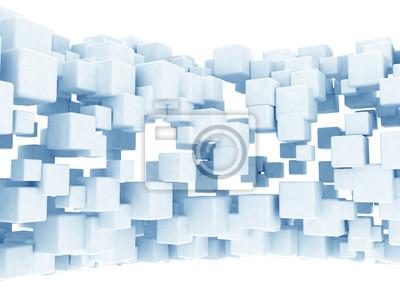 Abstraktní modré kostky pozadí