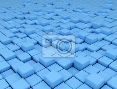 Fototapeta Abstraktní modré pozadí z 3d kostky