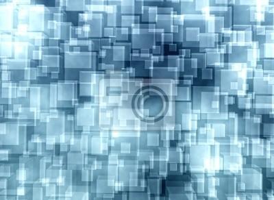 Abstraktní modré skleněné kostky