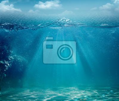 Fototapeta Abstraktní moře a oceán pozadí pro svůj design